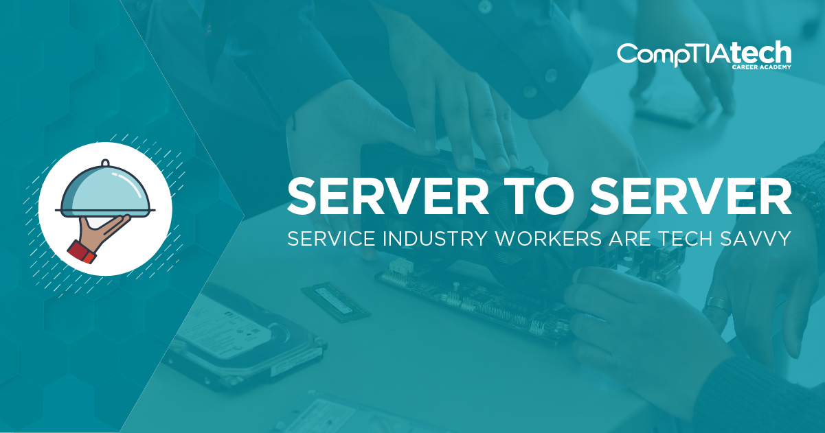 Service industry workers are tech savvy